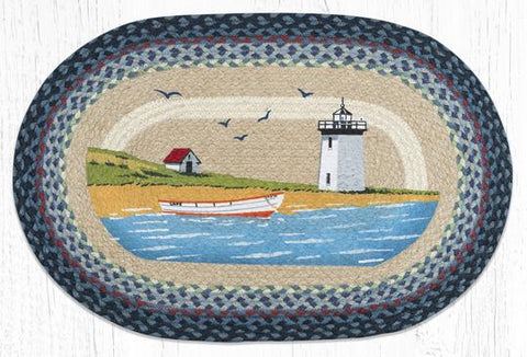 OP-362 Light & Boat Oval Rug