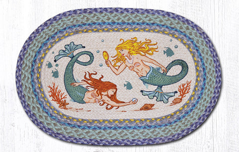 OP-386 Mermaids Oval Rug