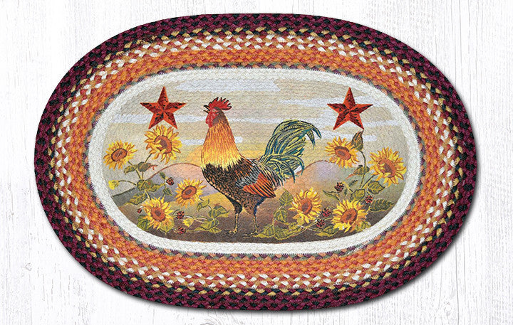 OP-391 Morning Rooster Oval Rug