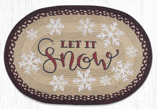 OP-395 Let It Snow Oval Rug