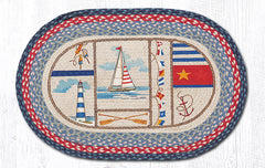 OP-458 Nautical Breeze Oval Rug