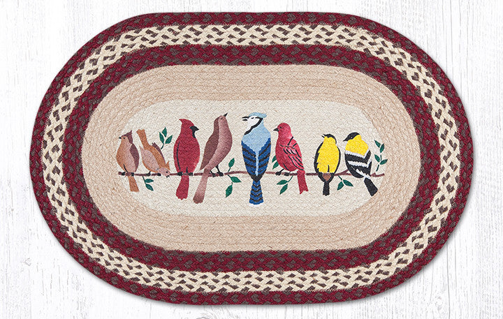 OP-501 Birds on a Wire Oval Rug