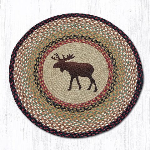 RP-019 Moose Round Patch Rug