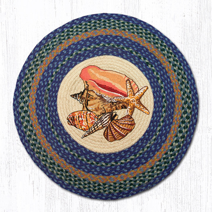 RP-353 Sea Shells Round Patch Rug