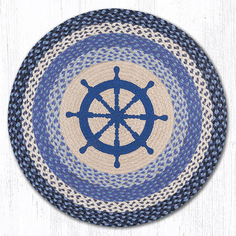 RP-434 Nautical Wheel Round Rug