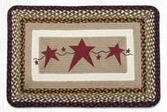 PP-019 Primitive Stars Burgundy Print Patch Rug