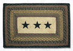 PP-099 Black Stars Print Patch Rug