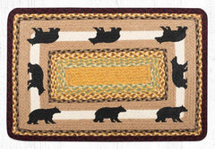 PP-395 Cabin Bear 2 Print Patch Rug