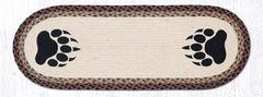 TR-081 Bear Paw Oval Table Runner