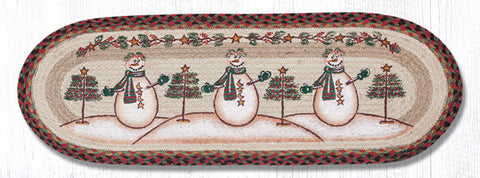 TR-081 Moon & Star Snowman Oval Table Runner