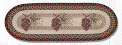 TR-081 Pinecone Oval Table Runner