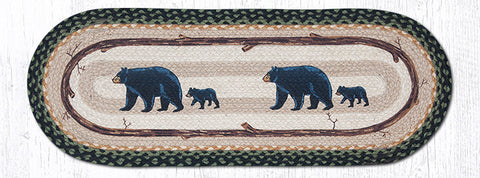 TR-116 Mama and Baby Bear Oval Table Runner