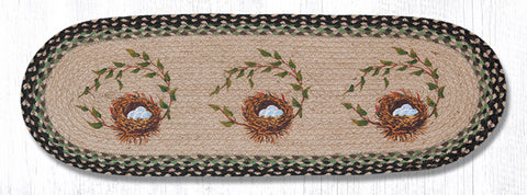 TR-121 Robins Nest Oval Table Runner
