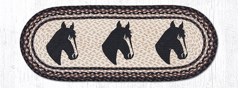 TR-313 Horse Portrait Oval Table Runner