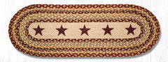 TR-357 Burgundy Stars Oval Table Runner