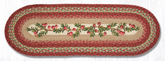 TR-390 Cranberries Oval Table Runner