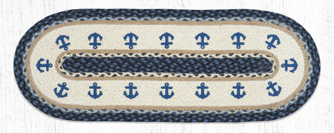 TR-443 Anchor Oval Table Runner