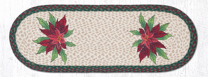 TR-508 Poinsettia Oval Table Runner