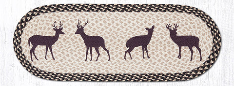 OP-518 Deer Silhouette Oval Table Runner