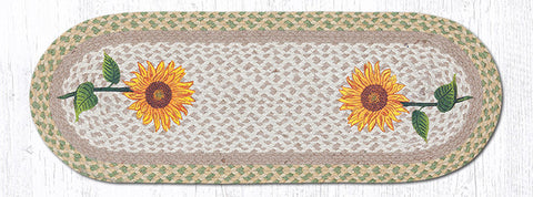 OP-529 Tall Sunflowers Oval Table Runner