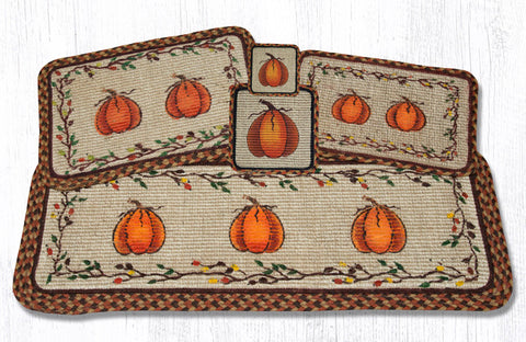 WW-222 Harvest Pumpkin Wicker Weave Table Accents