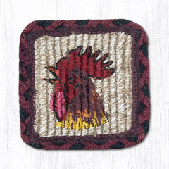 WW-391 Morning Rooster Wicker Weave Table Accent