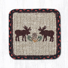 WW-019 Moose/Pinecone Wicker Weave Table Accents