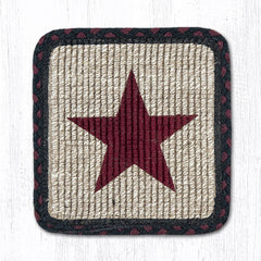 WW-344 Burgundy Star Wicker Weave Table Accent