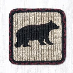 WW-395 Cabin Bear Wicker Weave Table Accents