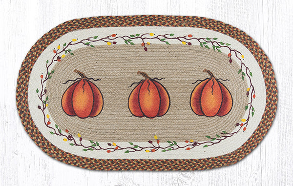 Op 222 Harvest Pumpkin Oval Rug The Braided Rug Place