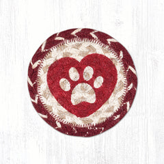 IC-9-117 Heart Paw Individual Coaster