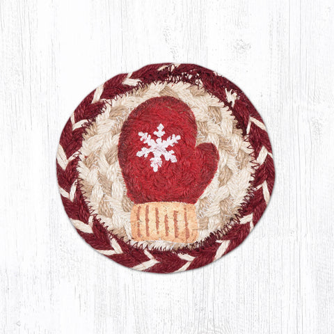 IC-9-117 Red Mitten Individual Coaster