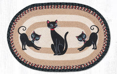 OP-9-238 Crazy Cats Oval Rug