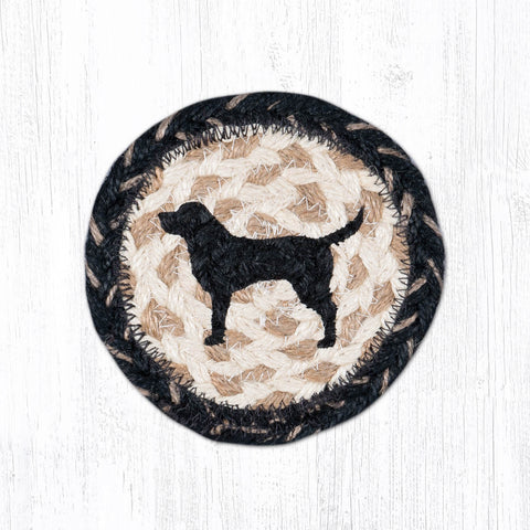 IC-9-93 Black Lab Silhouette Individual Coaster