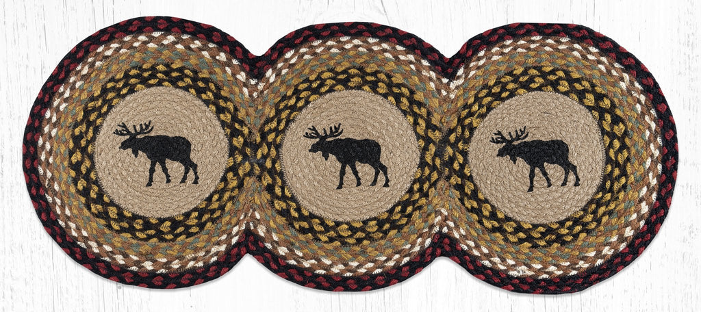 TCP-019 Black Moose Tri Circle Table Runner