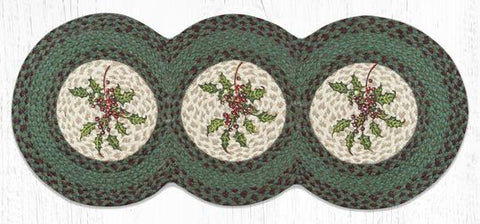TCP-508 Holly Tri Circle Table Runner