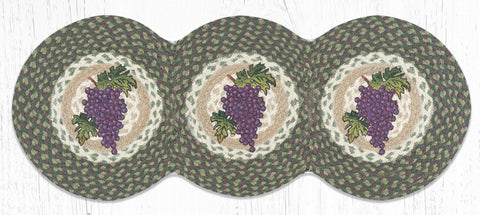 TCP-575 Grapes Tri Circle Table Runner