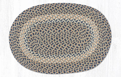 C-005 Blue and Natural Braided Rug