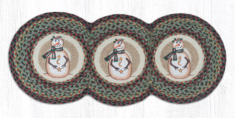 TCP-081 Moon & Star Snowman Tri Circle Table Runner