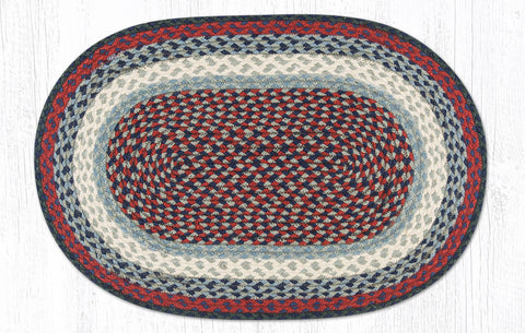 C-015 Blue and Burgundy Braided Rug