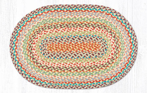 C-328 Multi Color Braided Rug