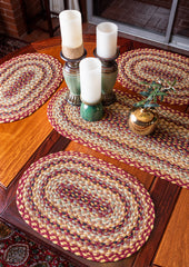PM-357 Burgundy/Gray/Cream Jute Placemat