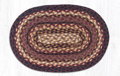 PM-371 Black Cherry/Chocolate/Cream Jute Placemat