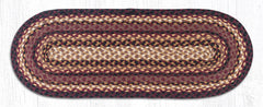 TR-371 Black Cherry/Chocolate/Cream Jute Table Runner