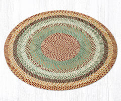 C-413 Buttermilk and Cranberry Braided Rug