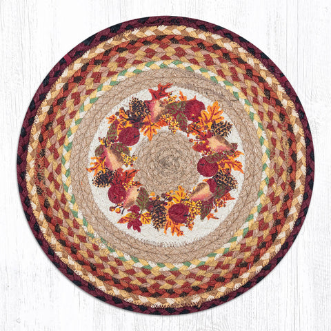 CH-431 Autumn Wreath Chair Pad