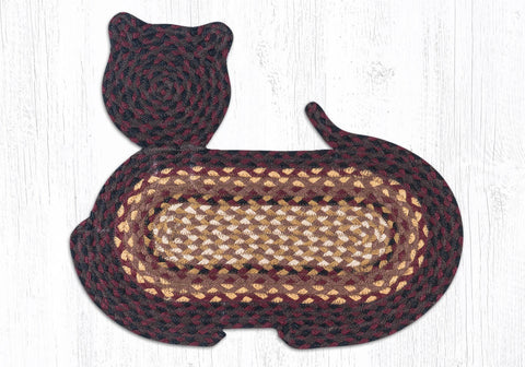 CT-371 Black Cherry/Chocolate/Cream Cat Rug