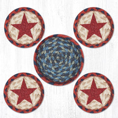 CNB-015 Red Star Coasters In A Basket