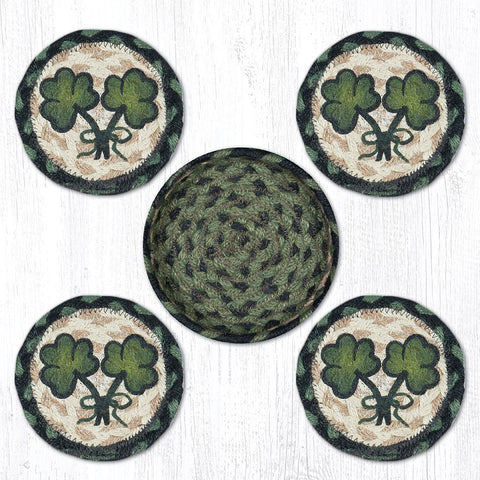 CNB-116 Shamrock Coasters In A Basket