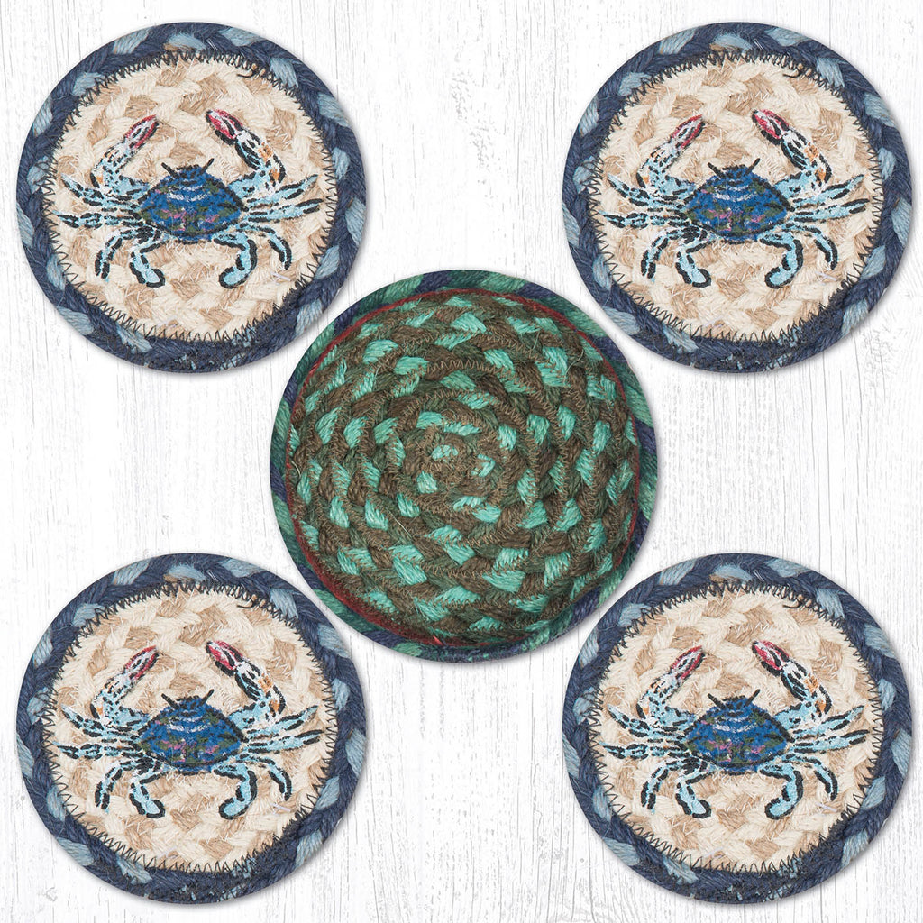CNB-359 Blue Crab Coasters In A Basket